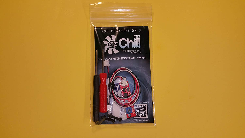 EZ Chill PS3 BEST Cooling Fan Controller Mod Kit - BETTER THAN INTERCOOLER - Prevent Repair YLOD RLOD Overheating Playstation 3 - FAT - SLIM - SUPER SLIM