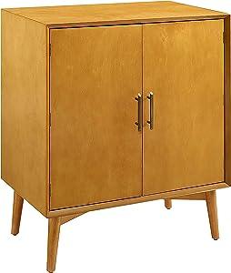 Crosley Furniture Landon Mid-Century Modern Bar Cabinet, Acorn