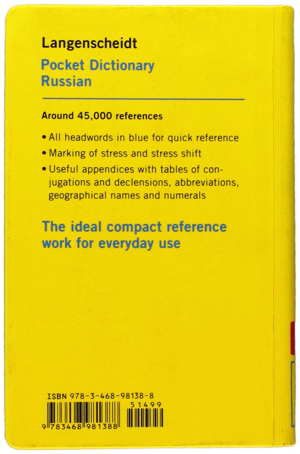 Langenscheidt Pocket Dictionary Russian: Russian - English / English -  Russian: Amazon.co.uk: Langenscheidt: 9783468981388: Books