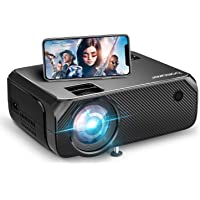 Wifi Mini Projector, BOMAKER Portable Projector, Outdoor Projector for Movies, 6000 Lux, Full HD 1080P Supported…