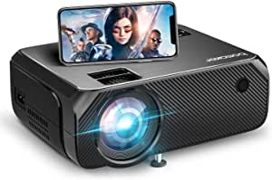 Wifi Mini Projector, BOMAKER Portable Projector, Outdoor Projector for Movies, 6000 Lux, Full HD 1080P Supported , Wireless Mirroring, 300'' Screen, Compatible with Android/iPhone/ Windows/PS4/DVD Player