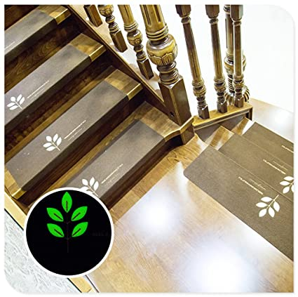 Kuke Carpet Stair Treads Luminous Self Adhesive Non Slip Wooden Steps Floor Staircase  Protector