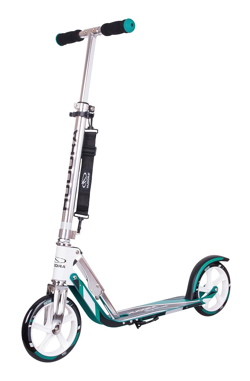 HUDORA Big Wheel Scooter 205 - Das Original, Tret-Roller klappbar - City-Scooter - 14751, türkis türkis 14751/01