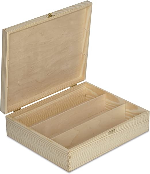 Creative Deco Caja Madera Vino para Decorar | 3 Botella | 35,1 x ...