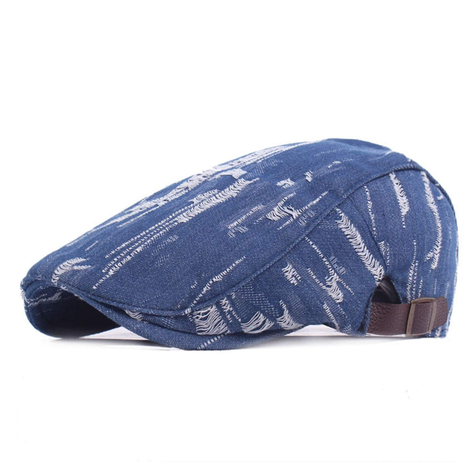 Denim Ivy Caps for Men Women British Ripped Jeans Flat Cap Berets Spring  Autumn Vintage Fashion Hats and Caps Blue One Size at Amazon Men s Clothing  store  e1540b4843e