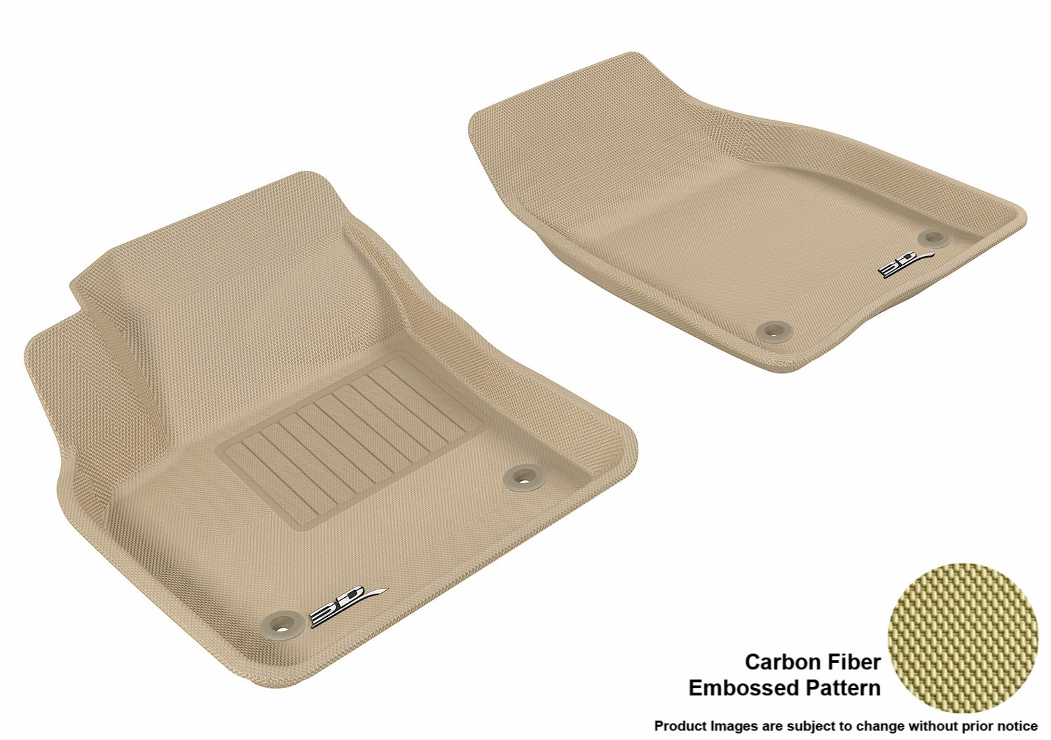 M1VV0031309 3D MAXpider Cargo Custom Fit All-Weather Floor Mat for Select Volvo S40 Models Black Kagu Rubber