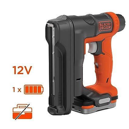 Black + Decker bdct12s1-qw agrapheuse-cloueuse inalámbrico 12 V-batterie y cargador)