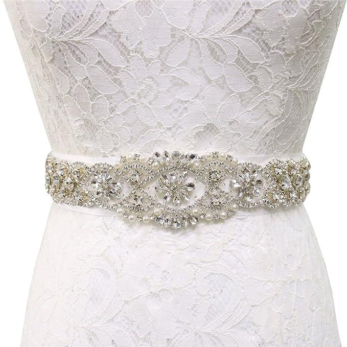Women\'s Bridal Crystal Rhinestone Wedding Dress Sash Bridal Gown ...