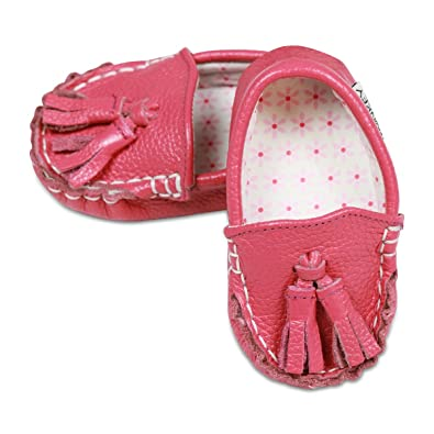 b4be0c8d140b8 Little Monkey {Pinkie Toes} Leather & Fabric Lined Infant Baby Newborn Boy  Girls Shoes Moccasins