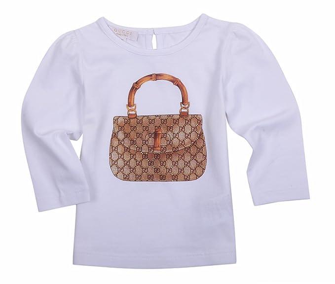 Gucci - Sudadera - para niño Blanco Blanco con Detalle Gris: Amazon.es: Ropa y accesorios