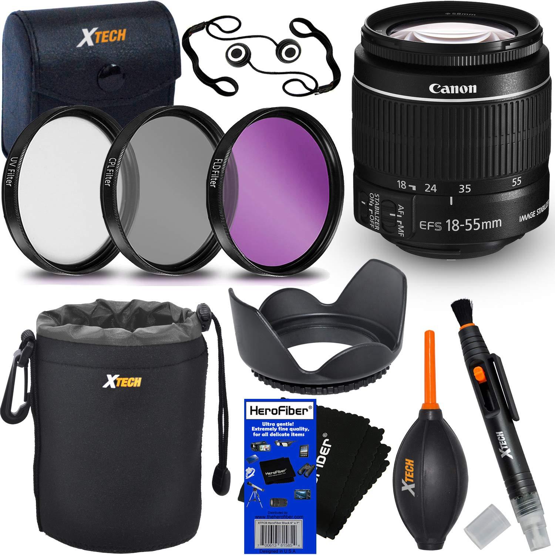 Canon Mark EF-S 18-55mm f/3.5-5.6 f/3.5-5.6 IS IS Mark II ズームレンズ Canon DSLRカメラ用 (国際バージョン) + フィルターキット3点 (UV、FL-D、CPL) + 8点バンドルアクセサリーキット HeroFiber クリーニングクロス付き B07GBJTT5S, カーテンインテリア シロヤマ:26386c48 --- ijpba.info
