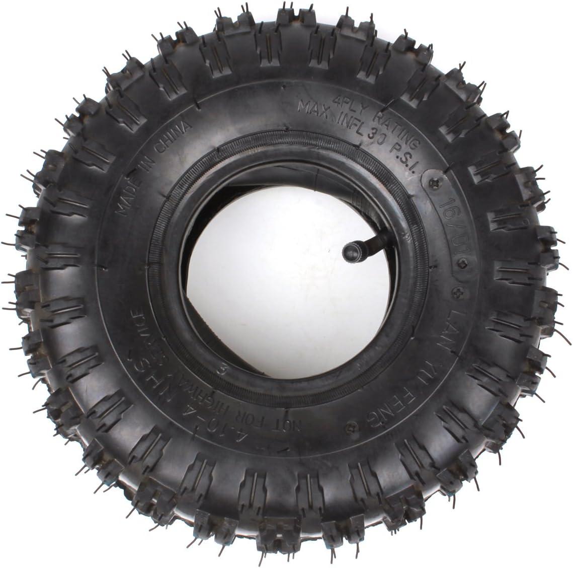 4,10-4 410-4 4,10/3,50-4 Tubo Interior + Neumático Reemplazo para Motocultor de jardín Soplador de Nieve Cortacéspedr Camión de Mano Go Cart Kid ATV Carretilla