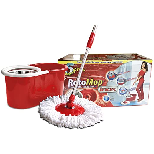 Superfive - Rotomop mop rotativo inoxidable base de microfibra con ...