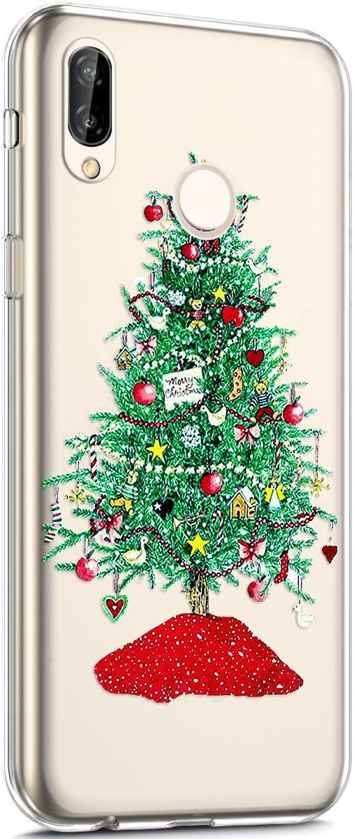 Surakey Silikon H/ülle f/ür Huawei NOVA 2 H/ülle,Xmas Christmas Weihnachten Schneeflocke Muster Ultra D/ünn Durchsichtig TPU Silikon Handyh/ülle Schutzh/ülle Case Cover f/ür Huawei NOVA 2