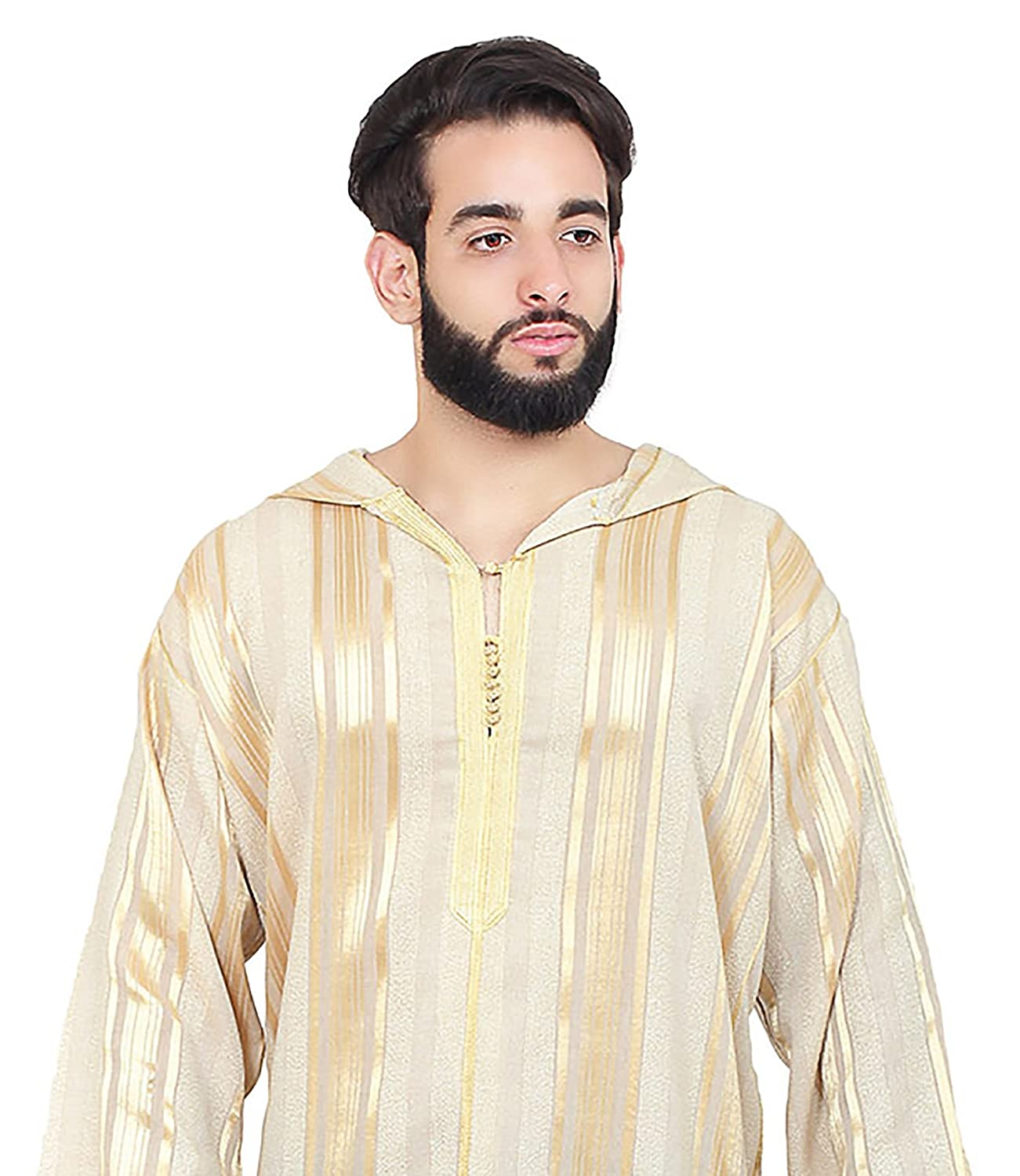 eeae1489108d Amazon.com: Moroccan Men Djellaba Handmade Embroidered Breathable Cotton  Blend hooded Caftan: Clothing