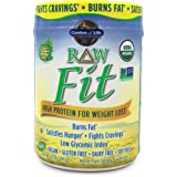 Garden of Life Raw Fit Organic Greens and Protein Powder - Probiotics/Enzymes, Vegan, Original, 14 oz (396g) Powder