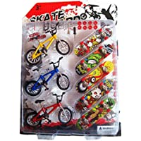 Remeehi Mini Finger Sports Skateboards with Metallic Stents 3 Bicycles 5 Skateboards