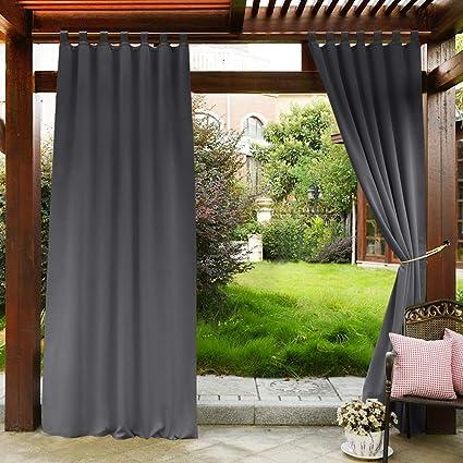 Amazon Com Pony Dance 108 Outdoor Curtain Gray Panels Indoor