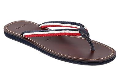 ef1ce24462c1 Moncler men s leather flip flops sandals ajaccio brown UK size 6 31 09A  0041600 04279