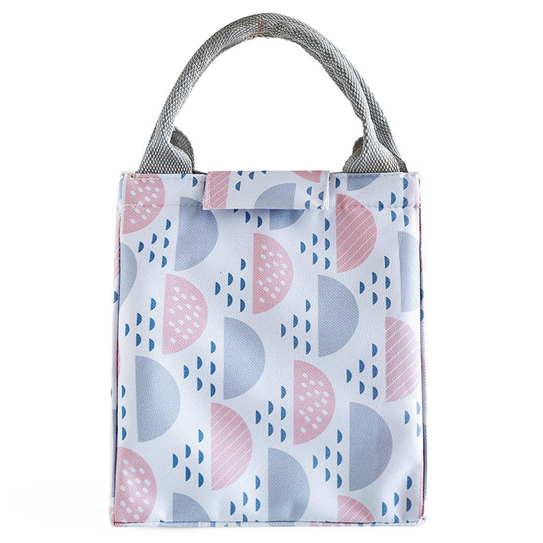 CC-C60010-CN School and Picnic Colourful semicircle Oyachic Thermal Lunch Bag Insulated Tote Leakproof Zipper Bag for Office