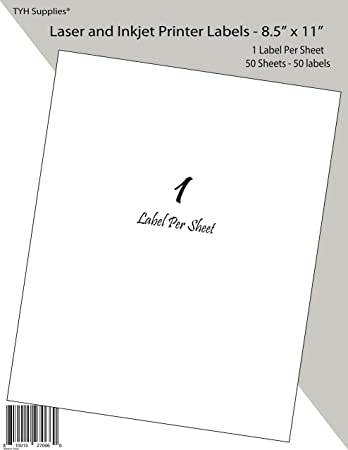 "300 Full Sheet Shipping Address Labels 8.5/""x11/"" Adhesive for Laer inkjet Printer"