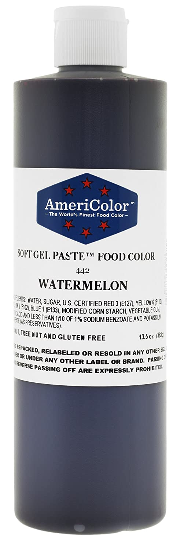 AmeriColor Food Coloring, Watermelon Soft Gel Paste, 13.5 Ounce