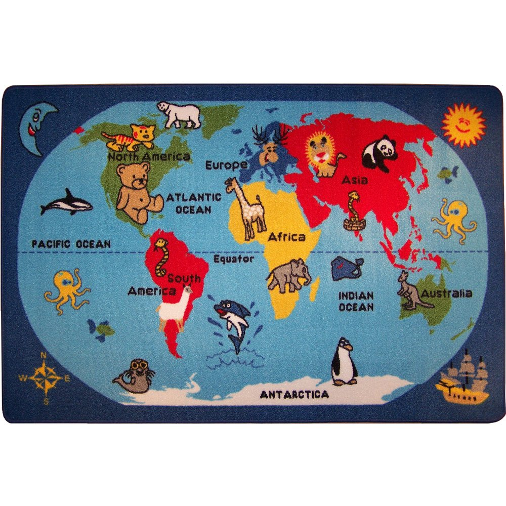 World rug world map for children 100x150cm real bedroom rug world rug world map for children 100x150cm real bedroom rug amazon kitchen home gumiabroncs Image collections