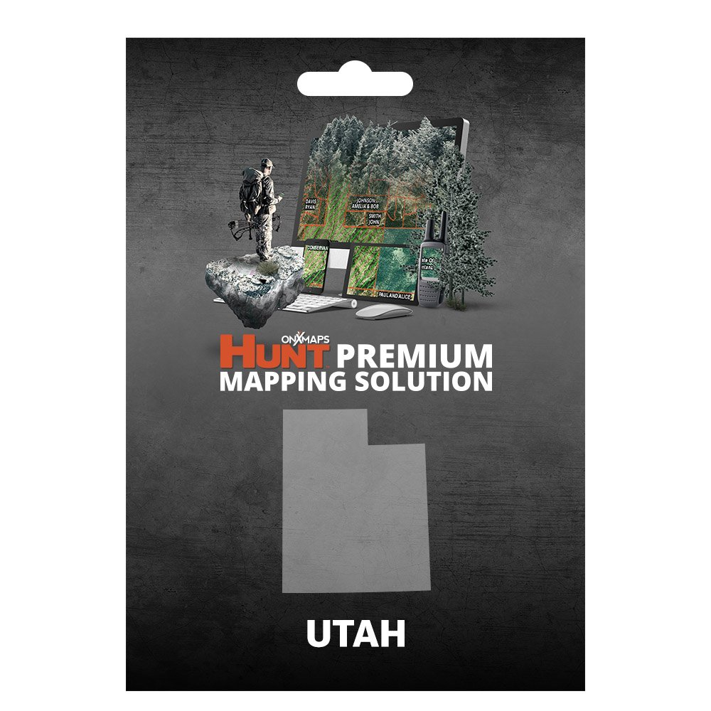 onXmaps HUNT Utah: Digital Hunting Map For Garmin GPS + Premium Membership For Smartphone and Computer - Color Coded Land Ownership - 24k Topo - Hunting Specific Data
