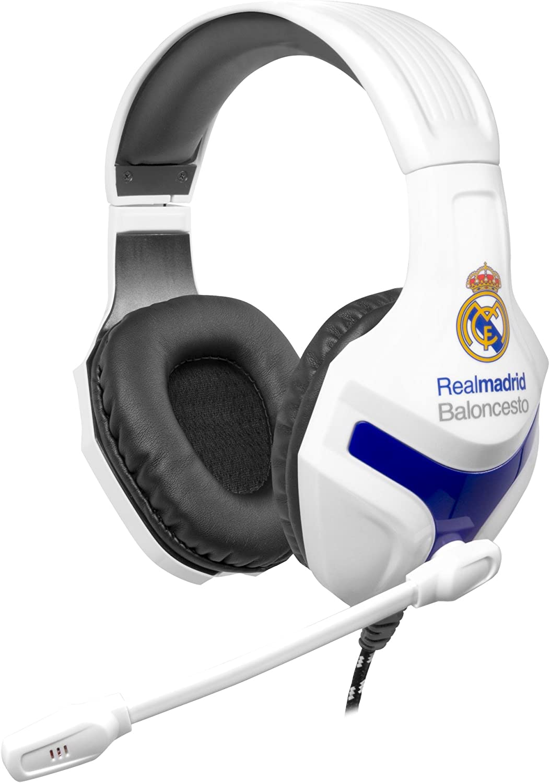 Mars Gaming MHRM - Auriculares del Real Madrid,micrófono plegable, 40mm neodimio