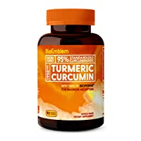 BioEmblem Turmeric Curcumin Supplement with BioPerine | Joint Support & Anti-Inflammatory...