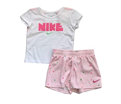 873109508 Image Unavailable. Image not available for. Color: Nike Infant Girls T-Shirt  and Shorts Set Pink Foam 24 Months