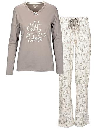 best service 4fb51 35a35 BASEFIELD Damen Pyjama-32/34 (222031814): Amazon.de: Bekleidung