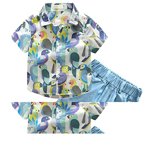 daqinghjxg New Children Baby Boys Clothes Cartoon Kids Clothing Sets T Shirt+Shorts