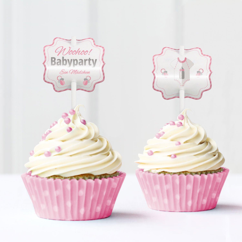 Mia Felice Baby Shower Babyparty Kuchen Kucheneinstecker Cupcake