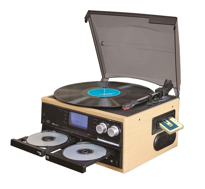 CDコピー機能搭載マルチレコードプレーヤー レコードカセットCDをCDへ録音できます B071YSGJMM