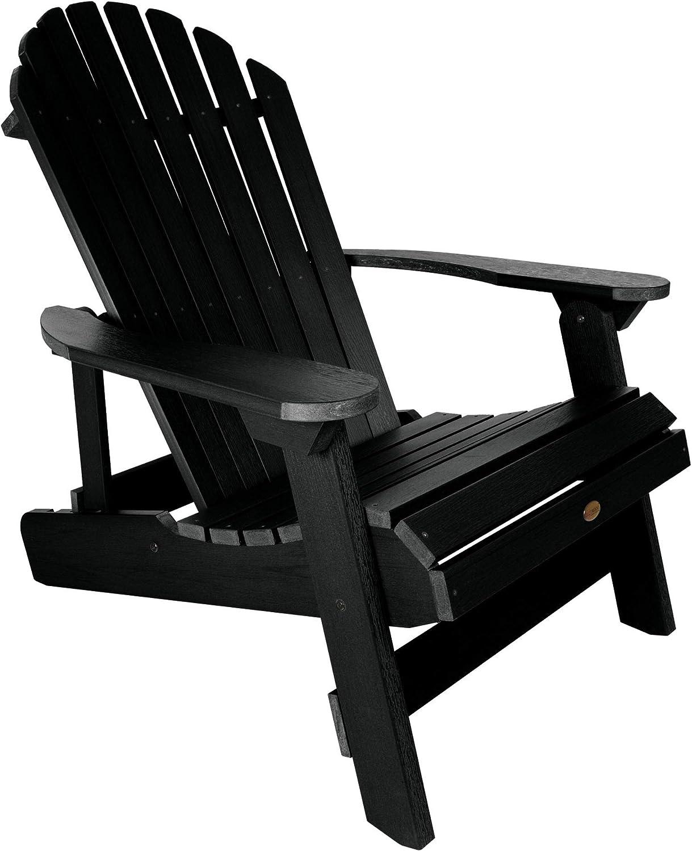 Highwood AD-KING1-BKE Hamilton Adirondack Chair, King Size, Black