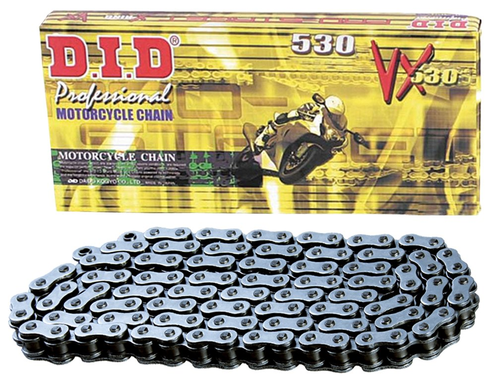 D.I.D 530VX-86 Steel 86-Link High Performance X-Ring Chain with Connecting Link