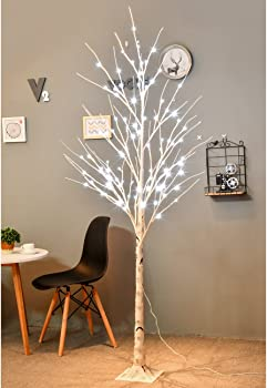 Bolylight LED Birch Tree 6ft 96L LED Christmas Decorations Lighted Tree