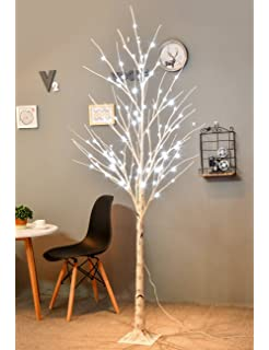 fa52c959a97e Bolylight 6FT 96 LED Birch Tree Artificial Decorations for Home  Bedroom Office Party