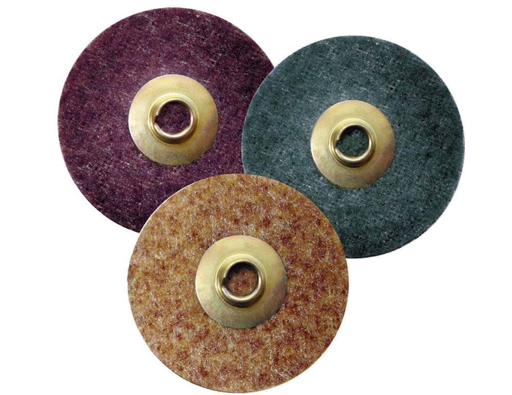 Griton QS2303MT 3'' Surface Conditioning Disc, Industrial Grade Type 1, Coarse, Brown (Pack of 25)