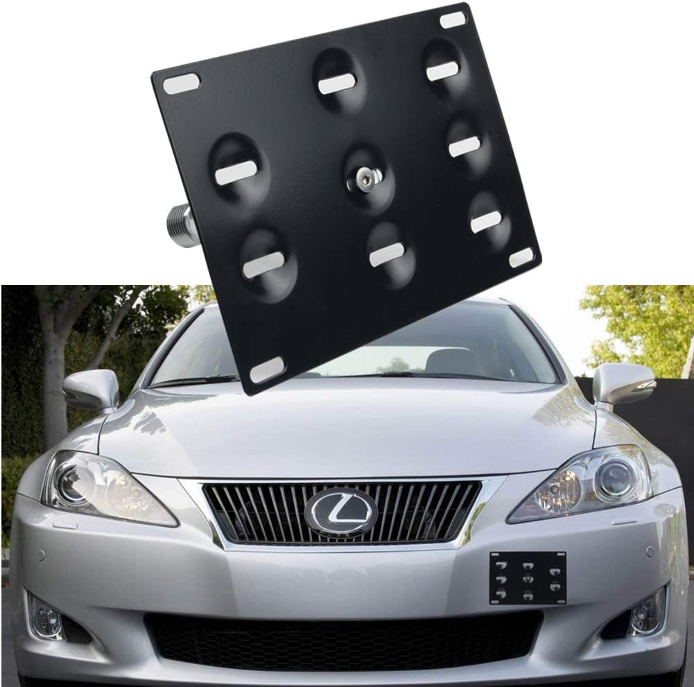 Tow Hook License Plate Relocator Bracket Mount Front Bumper for Lexus IS250 350