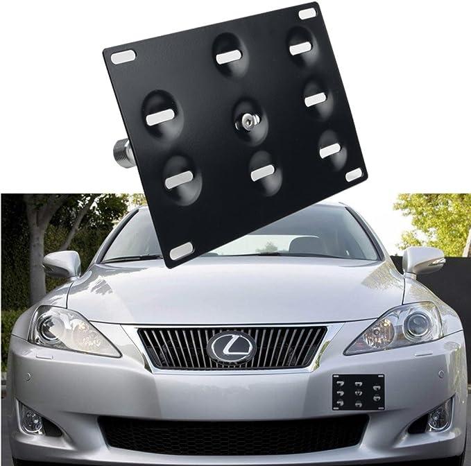 EOS Plate For 06-13 Lexus IS250 Sedan Front Bumper TowHook License Mount Bracket