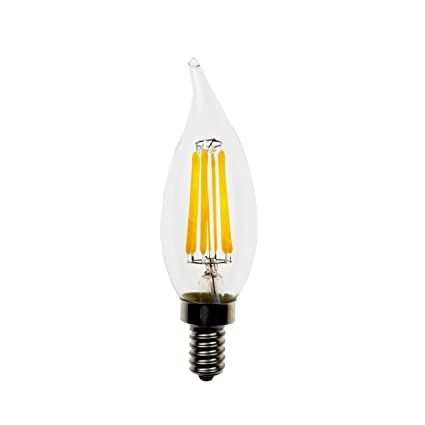 Goodlite G-83382 5W LED Filament Candelabra Flame tip Light Bulb 2700k - - Amazon.com
