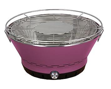 barbelux Parrilla para barbacoa de carbón vegetal de loto para exteriores, barbacoa sin humo con bolsa de transporte, granate: Amazon.es: Jardín