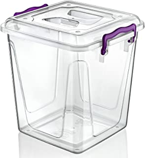 Small / Large Clear Plastic Box Ideal For Kitchen / Food / Flour / Storage /