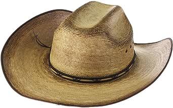 RESISTOL Mens Amarillo Sky Palm 4 1/8 Brim Straw Cowboy Hat