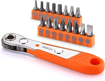 Tacklife HRSB1A 17pcs Mini Ratchet Wrench Screwdriver