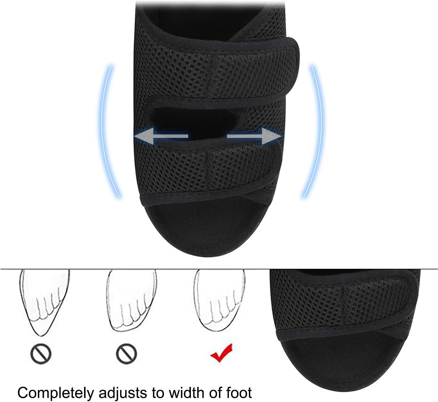 ITODA Chaussures Diab/étiques pour Hommes Pantoufles Orthop/édiques Bout Ouvert Chaussons Elargissement R/églable Chaussures dInt/érieur et Ext/érieur Antid/érapant Confortable pour Pieds Gonfl/és