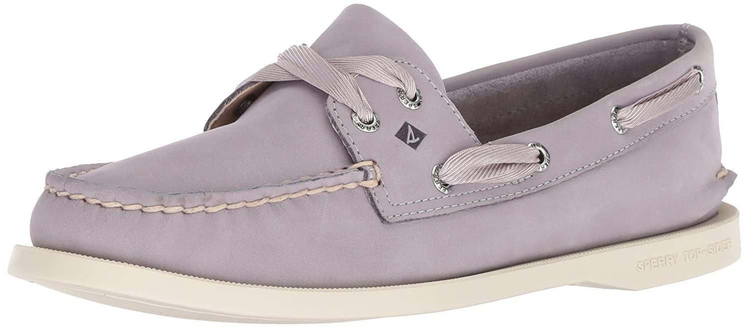 Light Purple Sperry Women's A O Satin Lace Boat shoes