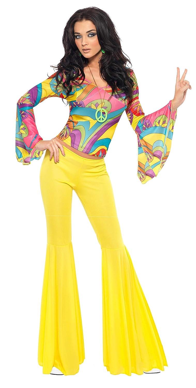 a1390b3689324f SMIFFYS Costume Ragazza alla Moda Anni '70, Multi-Colore con Parte  Superiore e Pantaloni: Amazon.it: Giochi e giocattoli